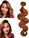 1 Bundle Indiskt hår Kroppsvågor Klassisk Äkta hår Förfärgad hår väver 10-18 tum Hårförlängning av äkta hår Människohår förlängningar / 8A