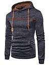 Men\'s Pullover Hoodie Sweatshirt Solid Color Hooded Casual Hoodies Sweatshirts  Long Sleeve Gray Black Navy Blue