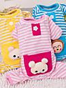 Katt Hund Jumpsuits Pyjamas Vinter Hundkläder Gul Blå Rosa Kostym Husky Labrador golden retriever Cotton Tecknat Ledigt / vardag söt stil XS S M L XL