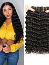3 paket Brasilianskt hår Stora vågor Obehandlad hår Human Hår vävar 8-28 tum Hårförlängning av äkta hår Människohår förlängningar / 10A
