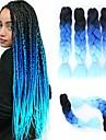 """Hår till flätning Rak Förlängare twist Flätor Krulliga afroflätor Syntetiskt hår 3 delar Hårflätor Naurlig färg 24 tum 24"""" Värmetåligt syntetisk Ombre flätat hår Vardag Afrikanska flätor"""