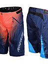 Herr Downhill Shorts MTB-shorts Cykel Shorts Underdelar Andningsfunktion Fuktabsorberande Snabb tork sporter Rutig Bomull Svart / Grön / Röd Bergscykling Kläder Formsydd Cykelkläder / Elastisk