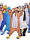 Vuxna Kigurumi-pyjamas Cookie Anime Film- och TV-kostymer Onesie-pyjamas Polär Ull Brun / Vit+Blå / Svart / Vit Cosplay För Herr och Dam Pyjamas med djur Tecknad serie Festival / högtid Kostymer