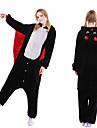 Vuxna Kigurumi-pyjamas Fladdermus Onesie-pyjamas Flanell Svart Cosplay För Herr och Dam Pyjamas med djur Tecknad serie Festival / högtid Kostymer