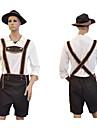 Halloween Oktoberfest lederhosen Herr Topp Byxor Hatt Bavarian Kostym Brun