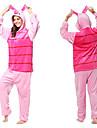 Vuxna Kigurumi-pyjamas Gris Onesie-pyjamas Flanell Rosa Cosplay För Herr Dam Pyjamas med djur Tecknad serie Festival / högtid Kostymer / Rand