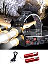 Pannlampor Kepslampa Framljus till cykel 2000 lm LED 5 utsläpps 4.0 Belysning läge med batterier och USB-kabel Bärbar Vindtät Häftig Enkel att bära Slitsäker Camping / Vandring / Grottkrypning