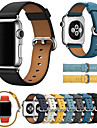 luxusní kožená kapela na hodinky pro hodinky Apple 5/4/3/2/1 vyměnitelný náramek na zápěstí na zápěstí