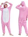 Vuxna Kigurumi-pyjamas Matt svart Onesie-pyjamas Flanell Rosa Cosplay För Herr och Dam Pyjamas med djur Tecknad serie Festival / högtid Kostymer