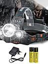 Pannlampor Framljus till cykel 10000 lm LED utsläpps 4.0 Belysning läge med batterier och laddare Vinklad Ficklampa Lämplig för fordon Superlätt Camping / Vandring / Grottkrypning Cykling Jakt Vit