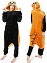 Vuxna Kirugumi-pyjamas med tofflor Tvättbjörn Onesie-pyjamas Flanelltyg Cosplay För Herr och Dam Pyjamas med djur Tecknad serie Festival / högtid Kostymer / Skor