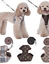 Hund Husdjur Outfits Selar Koppel Mjuk Ledigt / vardag Säkerhet Pläd / Rutig Bokstav Terylen Brun Beige