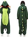 Vuxna Kigurumi-pyjamas Dinosaurie Onesie-pyjamas Polär Ull Grön Cosplay För Herr och Dam Pyjamas med djur Tecknad serie Festival / högtid Kostymer