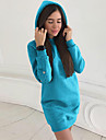 Women\'s Sheath Dress - Solid Colored Black Light Blue Blue S M L XL