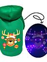 Hund Katt Huvtröjor Väst Jul Hundkläder Grön Kostym Husky Labrador alaskan malamute Polyester Duk Blandat Material Jul S M L