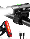 LED Bike Light Rechargeable Bike Light Set Rear Bike Tail Light Safety Light XP-G2 Mountain Bike MTB Bicycle Cycling Waterproof Multiple Modes Super Bright Portable Li-polymer 350 lm USB Daylight Red