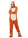 Kigurumi-pyjamas Vuxna Herr och Dam Halloween Karnival Festival / högtid Flanell Orange Karnival Kostymer / Tiger