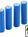 Li-jon 18650 batteri 5000 mAh 4pcs 3.7 V Uppladdningsbar Bärbar för Ficklampa Bike Light Huvudlampor Camping Jakt Fiske