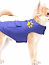 Katt Hund Väst Vinter Hundkläder Ljusblå Röd Blå Kostym Cotton Enfärgad Konvertibel klänning Håller värmen XS S M L XL XXL