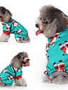 Hund Katt Väst Jul Hundkläder Grön Kostym Husky Labrador alaskan malamute Polyester Duk Blandat Material Jul S M L XL
