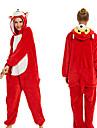 Vuxna Kigurumi-pyjamas Räv Onesie-pyjamas Flanelltyg Röd Cosplay För Herr och Dam Pyjamas med djur Tecknad serie Festival / högtid Kostymer