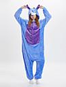 Vuxna Kigurumi-pyjamas Åsna Onesie-pyjamas Flanelltyg Blå Cosplay För Herr och Dam Pyjamas med djur Tecknad serie Festival / högtid Kostymer
