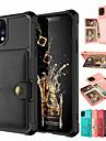 ケースiphone11 / 11pro / 11promax / x / xs / xr / xs maxウォレット/カードホルダー/耐衝撃バックカバー無地puレザー/ pc