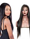 Äkta hår 360 Fasad Peruk stil Brasilianskt hår Naturlig Straight Naturlig Peruk 150% Hårtäthet Len Dam Bästa kvalitet Heta Försäljning Bekväm Dam Medium längd Äkta peruker med hätta