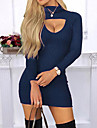Women\'s Sheath Dress - Solid Colored Black Blue Red S M L XL