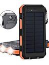 LED-Ficklampor Strömbank Sol laddare LED 2 utsläpps Manual Belysning läge Camping / Vandring / Grottkrypning Vit Ljuskälla Färg Svart / Orange Svart / vit Svart / Blå
