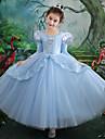 Cinderella Klänningar Maskerad Flickor Film-cosplay Cosplay Halloween Ljusblå Klänning Halloween Karnival Maskerad Tyll Polyester