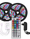 KWB 10m Flexible LED Strip Lights Light Sets RGB Tiktok Lights 600 LEDs SMD3528 8mm 1 44Keys Remote Controller 1 X 12V 3A Power Supply Christmas New Year's Waterproof Cuttable Party