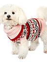 Hund Jumpsuits Vinter Hundkläder Beige Kostym Cotton Snöflinga Nyår XS S M L XL XXL