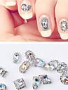 12 st universella syntetiska ädelstenar nagelsmycken för fingernagel mode nagelkonst manikyr pedikyr dagligen / festival basic