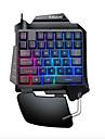 LITBest G92 USB Wired Gaming Keyboard Ergonomic Keyboard Gaming Luminous Multicolor Backlit 35 pcs Keys