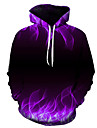 Men\'s Plus Size Hoodie 3D Hooded Casual / Basic Slim Purple US32 / UK32 / EU40 US34 / UK34 / EU42 US36 / UK36 / EU44 US38 / UK38 / EU46 US40 / UK40 / EU48 US42 / UK42 / EU50 US44 / UK44 / EU52
