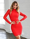 Women\'s Bodycon Dress - Solid Colored Black White Red S M L XL