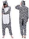 Vuxna Kigurumi-pyjamas Mellan Djurmönstrad Onesie-pyjamas Flanell Svart / Vit Cosplay För Herr och Dam Pyjamas med djur Tecknad serie Festival / högtid Kostymer