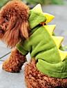 Hund Dräkter / Kostymer Huvtröjor Dinosaurie Vinter Hundkläder Håller värmen Grön Röd Halloween Kostym Toypudel Polyster Enfärgad Fun & Whimsical Cosplay XS S M L XL