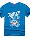 Inspirerad av Tokyo Ghoul Ken Kaneki Animé Cosplay-kostymer Japanska Cosplay T-shirt Tryck Kortärmad Topp Till Herr