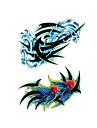 1 st tillfälliga tatueringar vattentåliga / engångs ansikts / kropp vatten överföring klistermärke tatuering klistermärken