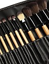 Professionell Makeupborstar Borstsatser 24pcs Miljövänlig Professionell Mjuk Fullständig Täckning syntetisk Syntetiskt Hår Trä Sminkborstar för