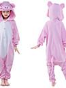 Barn Kigurumi-pyjamas Gris Onesie-pyjamas Polär Ull Rosa Cosplay För Pojkar och flickor Pyjamas med djur Tecknad serie Festival / högtid Kostymer