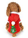 Hund Katt Huvtröjor Jul Vinter Hundkläder Röd Kostym Husky Labrador alaskan malamute Polyester Duk Blandat Material Jul Nyår XS S M L XL