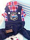 Hund Katt Väst Jul Hundkläder Grön Röd Blå Kostym Husky Labrador alaskan malamute Polyester Duk Blandat Material Cowboy Punk XS S M L XL XXL