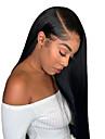 Äkta hår 13x6 Tillslutning Peruk stil Brasilianskt hår Naturlig Straight Naturlig Peruk 150% Hårtäthet Len Dam Bästa kvalitet Heta Försäljning Bekväm Dam Medium längd Äkta peruker med hätta