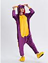 Vuxna Kigurumi-pyjamas drake Onesie-pyjamas Flanell Purpur Cosplay För Herr och Dam Pyjamas med djur Tecknad serie Festival / högtid Kostymer