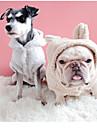 Hund Huvtröjor Vinter Hundkläder Rosa Grå Khaki grön Kostym Spädbarn Liten hund Blandat Material Enfärgad S M L XL XXL XXXL