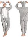 Vuxna Kigurumi-pyjamas Mus Onesie-pyjamas Flanell Grå Cosplay För Herr och Dam Pyjamas med djur Tecknad serie Festival / högtid Kostymer