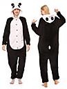 Vuxna Kigurumi-pyjamas Panda Djurmönstrad Onesie-pyjamas Polär Ull Svart / Vit Cosplay För Herr och Dam Pyjamas med djur Tecknad serie Festival / högtid Kostymer